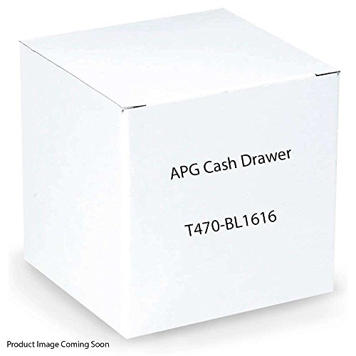APG T470-BL1616 Series 100 Cash Drawer, Ethernet Interface, Adjustable Dual Media Slots, No Reporting, 5 Bill 5 Coin, 16