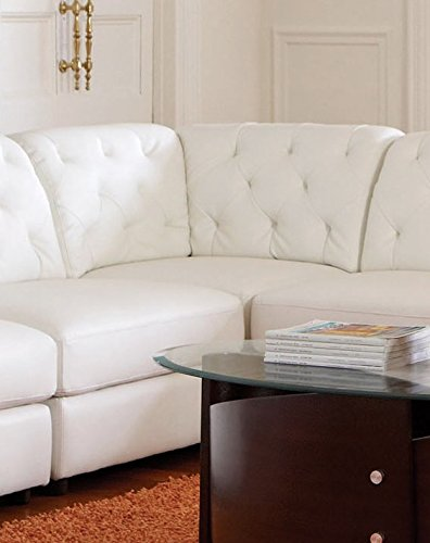 1PerfectChoice Quinn Bonded Leather Match White Corner