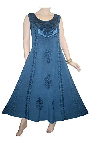(Agan Traders 1004 DR Sleeveless Dress (2X, Blue))