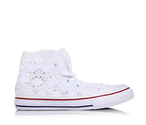 Bianco Star All Stringate Donna Hi Sneakers Converse zqYnxUZTwz