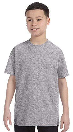Gildan 5000B Youth 100% Cotton Tee - Sport Grey - S (T-shirt Youth Grey)