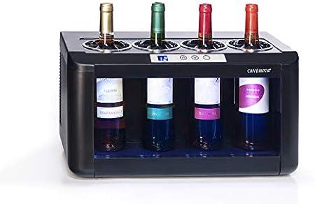 Cavanova OW004 - Enfriador de vino - 4 botellas , Temperatura 5-18°[Clase de eficiencia energética B]