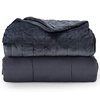 Image of Weighted Blanket and Double Quilted Removable Cover- Premium Classic Weighted Blanket Deluxe Set 100% Cotton Inner -48''x78''-20lb Blanketown B07WNN5KNX Weighted Blankets