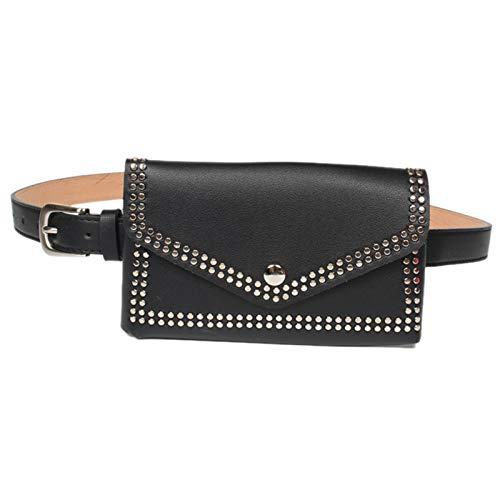TOOGOO Paquete de Cinturón de Cintura de Remache Para Mujer Bolso de Cintura Casual Cuero de