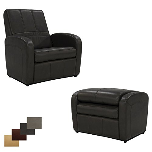 RecPro Charles RV Gaming Chair Ottoman w/ Storage (Chestnut)