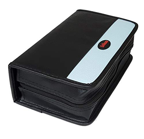 Koskin Cd / Dvd Case - 120 Discs Portable CD DVD Wallet Koskin Leather Holder Bag Case Album Organizer Media Storage