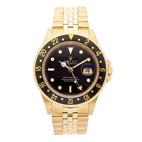 Rolex GMT Master II Mechanical (Automatic) Black Dial Mens Watch 16718 (Certified Pre-Owned)