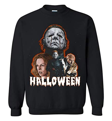 Michael Myers Halloween Horror Movie Dr. Loomis Laurie Adult and Youth Crewneck Sweatshirt ()