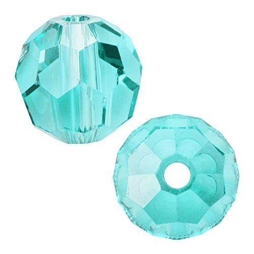 Swarovski Crystal, 5000 Round Beads 6mm, 10 Pieces, Light Turquoise
