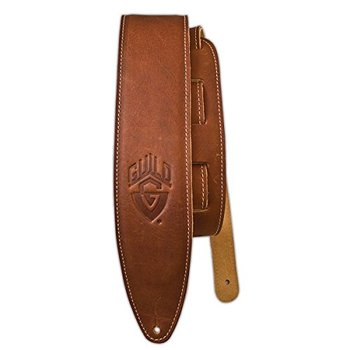 Guild Guitars Leather Guitar Strap - Brown by Guild Guitars