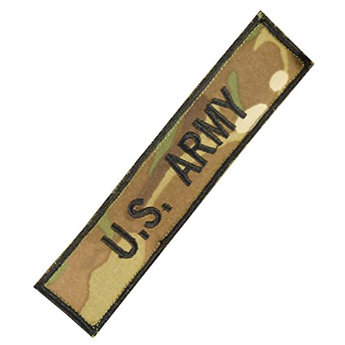 Us Army Name Tape Multicam Morale Embroidery Milspec Combat Touch Fastener Patch