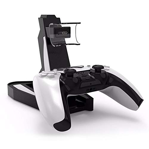 Dual Charger Dock Stand for PS5 Controller, Dual Charging Dock Stand Station, USB Fast Charger for PS5 Gaming Console…