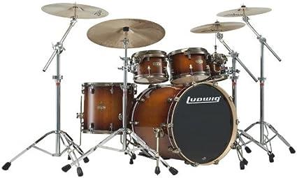 Ludwig Epic Funk Mahogany Burst Free 8 Tom Amazon Co Uk Musical Instruments