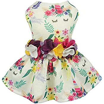 8cbaf4a54d70 Fitwarm Fairy Unicorn Pet Clothes Dog Dresses Sundress Cat Vest Shirts Small