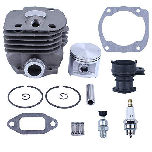 Haishine 50MM Cylinder Piston Intake Manifold Decompression Valve Kit Fit Husqvarna 365 362 371 372 371K Chainsaw