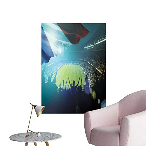 (Wall Decorative Crowded Football Stadium with French Flag Pictures Wall Art Painting,28