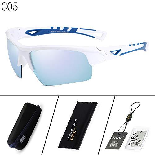 nbsp; Mirror Gafas de nbsp;Goggles Mjia Deportivas Gafas polarizadas Black Sol sunglasses nbsp; White 2 Sports nbsp;Outdoor Riding Hombre Fxw7n4w8q