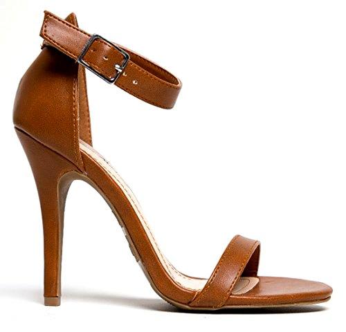 Anne Michelle Enzo Women Open Toe Synthetic Sandals Chestnut La2jquug2