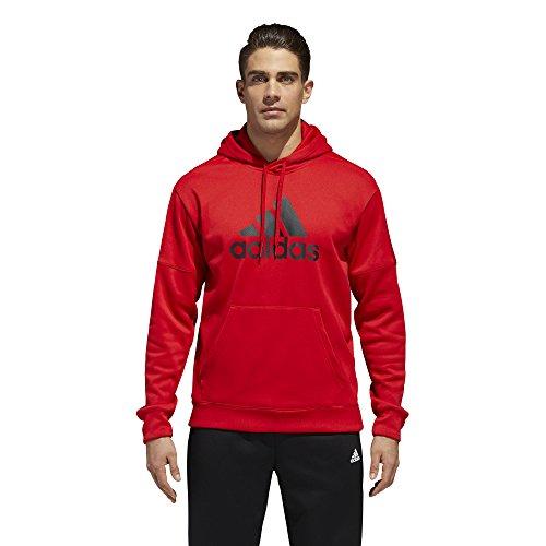 adidas Men's Athletics Team Issue Full-Zip Fleece Hoodie, Scarlet, ()