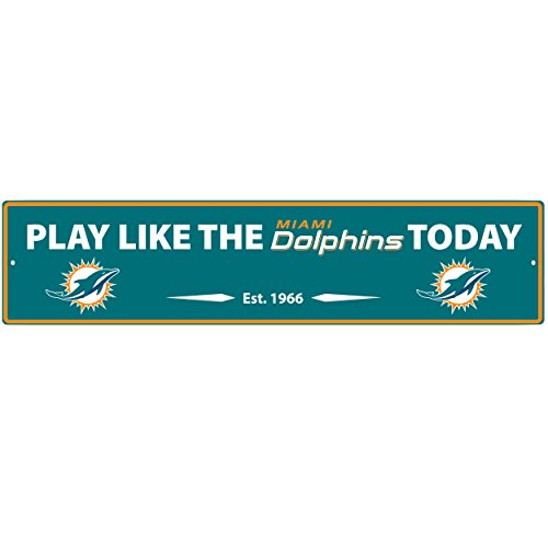 NFL Miami Dolphins Street Sign Wall Plaque, ()