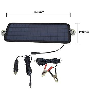Lifesongs 12 V 4,5 W cargador solar de batería de coche ...