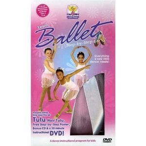 Tinkerbell Dance Studio Kit : Learn Ballet - Step-by-step - Instructional DVD with Bonus Music Cd , One Size Fits All Pink Tutu , Hair Tutu , Poster That Shows the Positions (Videos Ballet Kids For)