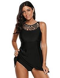 Otras marcas Traje de baño para Dama con Vestido batita Negro Tallas Grandes Extras