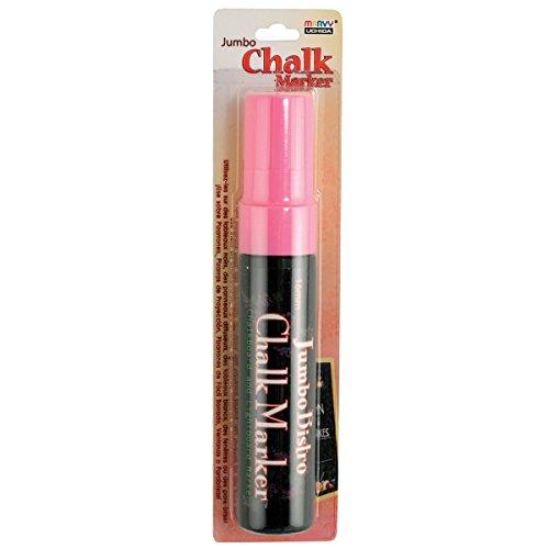 Uchida 481-C-F9 Marvy Jumbo Broad Point Tip Bistro Chalk Marker, Fluorescent Pink