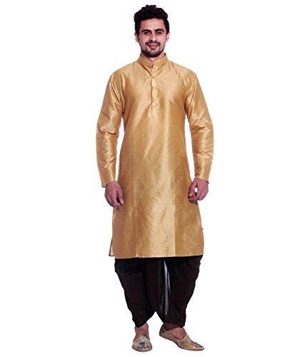 Kurta Dhoti (Royal Kurta Men's Silk Blend Dhoti & Kurta 42 Gold)