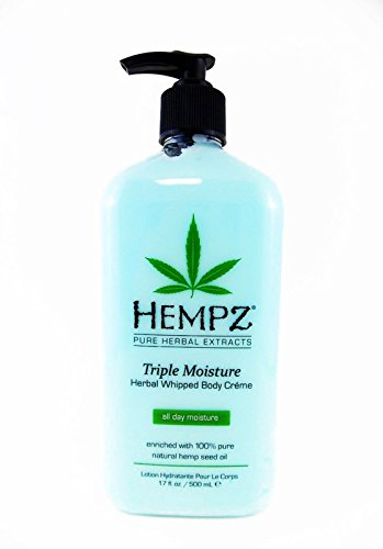 Hempz Triple Moisture Herbal Whipped Body Creme, 17 Fluid Ounce (Vanilla Plum Collection)