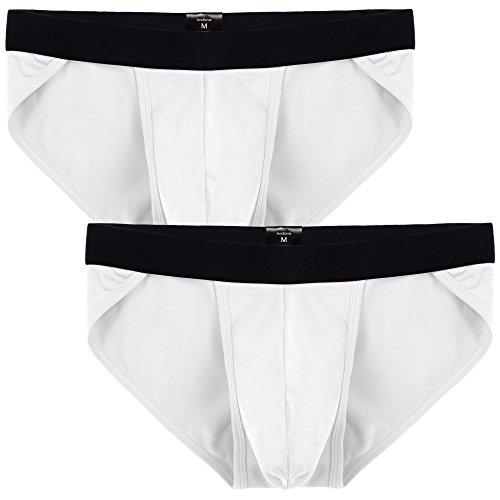 Avidlove Men Underwear Cotton Blend Bikinis 2 Packs Briefs #2 XL