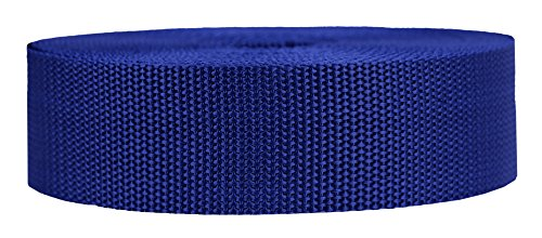 (Strapworks Heavyweight Polypropylene Webbing - Heavy Duty Poly Strapping for Outdoor DIY Gear Repair, 1.5 Inch x 50 Yards, Navy Blue)