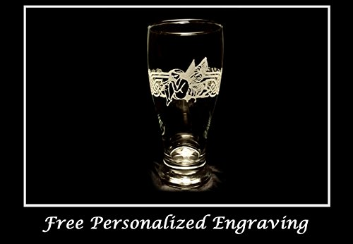 Celtic Fairy Pint Glass - Free Personalized Engraving, Anniversary gift, Irish pint glass, Fairy (Icon Pint Glasses)
