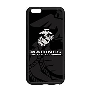 At-Baby Personalized US Marine Corps Black White Colors Pattern Case for iPhone 6 Plus 5.5 inch (Laser Technology)