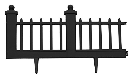 EMSCO Wrought Iron Style Border Fencing – Resin Construction – 10 ()