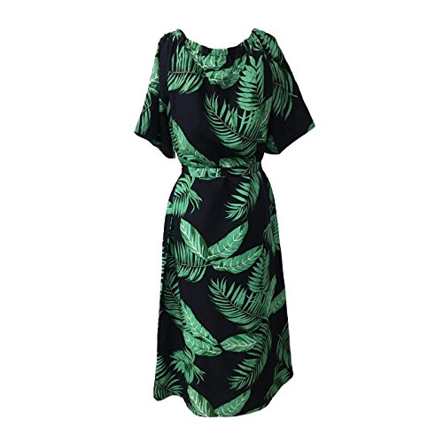 ADA con fantasia LONG DRESS LONDON mod verde blu abito ORION felci donna pzwRFAq