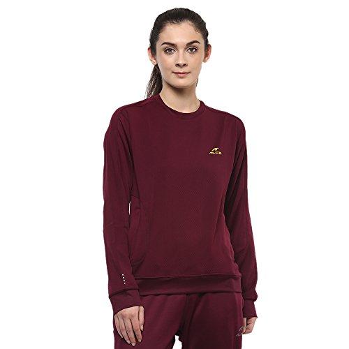 ALCiS Womens Round Neck Solid Sweatshirt