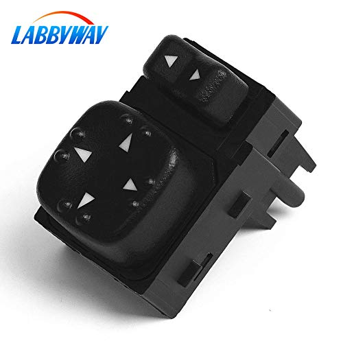 LABBYWAY Replaces OE#15045085 19259975,Power Mirror Switch for - 901124 for Chevy Silverado GMC Sierra 2000 2001 2002 Mirror Switch