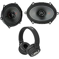 Pair Kicker 44KSC6804 KSC680 6x8 300 Watt 2-Way Car Speakers KSC68+Headphones