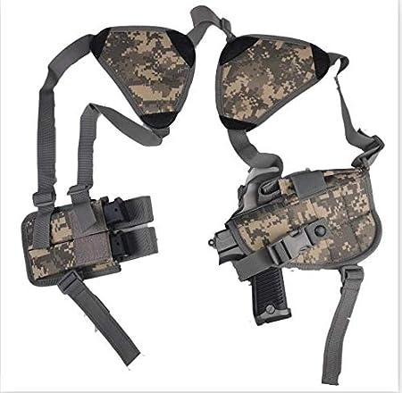 NO LOGO L-Yune, Nuevo al Aire Libre táctico Seguridad de la Policía Universal Izquierda Derecha Mano de la Pistola de la Bolsa de Hombro Pistolera for Glock 17 19 22 23 31 32 (Color : ACU)