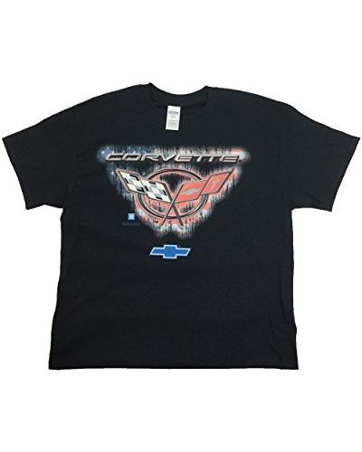 chevrolet-corvette-emblem-with-flags-and-logo-automobile-adult-t-shirt-black-xxxl