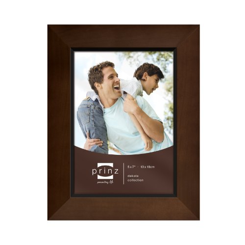 Prinz 5-Inch by 7-Inch Dakota Dark Walnut Wood Frame