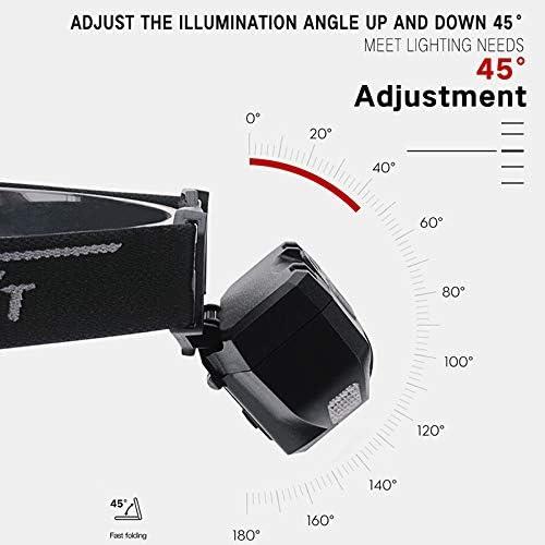 Angeln Camping 1000 Lumens rot mit wei/ßem Licht Stirnlampen 2 x XPG LED Bewegungssensor Scheinwerfer Au/ßenscheinwerfer f/ür Laufen BESTSUN Stirnlampe Rotlicht LED Wiederaufladbar