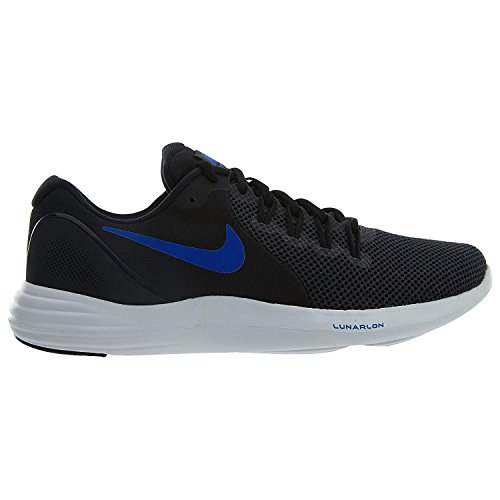 NIKE Lunar Apparent Mens Running Shoes Black/Racer Blue