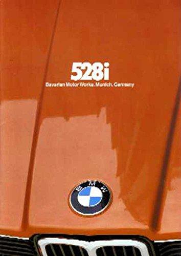 1980 BMW 528 I Sales Brochure Literature Piece Advertisement Options (Brochure Sales Bmw)
