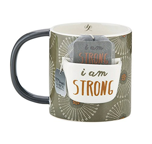 Inspirational Tea Mug- I Am Strong,15oz