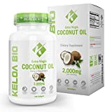 Organic Coconut Oil Capsules Pills 2000mg Best Source MCFA Clinically Proven Support for Ketogenic Weight Loss Thick Hair Glowing Skin Performance & Energy USA Virgin Cold Pressed Review