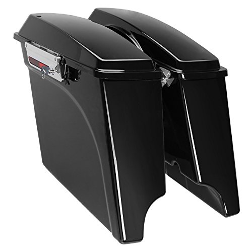 (Ambienceo Stretched Extended Saddlebags Painted for 1993-2013 Harley Touring Electra Street Road Glide 1994 1995 1996 1997 1998 1999 2000 2001 2002 2003 004 2005 2006 2007 2008 2009 2010 2011 2012 13)