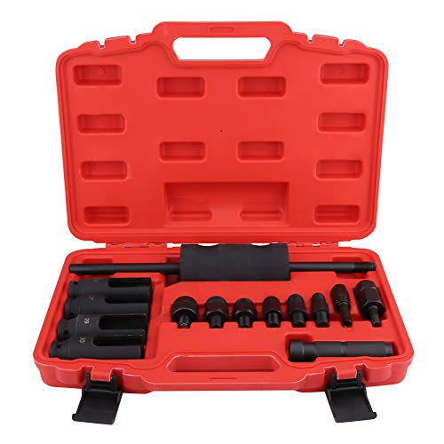 (Diesel Injector Extractor, 14pcs Common Rail Injector Remover Tool Kit with Slide Hammer for Car Puller Injection Repairing)