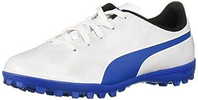 PUMA Unisex RAPIDO TT JR Sneaker, White-Royal Blue-Light Gray, 2 M US Little Kid